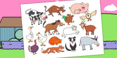 Story Cut Outs to Support Teaching on Farmyard Hullabaloo