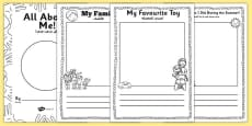 All About Me EYFS Transition Booklet Arabic Translation