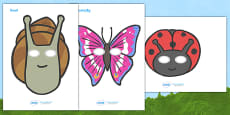 Minibeasts Role Play Masks