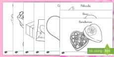 Hojas de colorear: Día de San Valentín