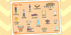 Tiger Tea Word Mat Images