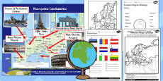Introduction to Europe Lesson Teaching Pack