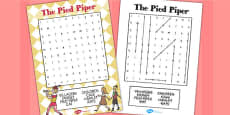 The Pied Piper Wordsearch
