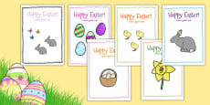 Easter Card Templates Arabic Translation