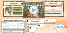 * NEW * PlanIt Y6 Animals: The Tyger Lesson Pack Persuasive Writing 1