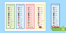 One Number in 10 Different Languages Bookmarks