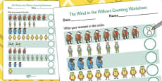 The Wind in the Willows Counting Sheet