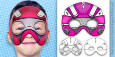 3D Robot Superhero Mask Printable