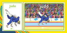 Rio 2016 Olympics Judo Display Posters