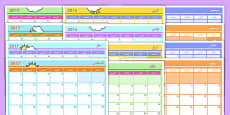 Academic Year Monthly Calendar Planning Template 2016-2017 Arabic