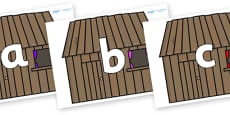 Phoneme Set on Wooden houses