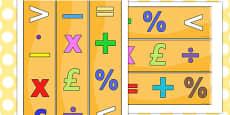Maths Themed Display Borders