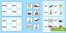 * NEW * Workstation Pack: Picture to CVC (a) Matching Activity Activity Pack