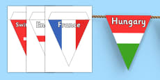 Euro 2016 Country Flag Bunting (European Championships 2016)