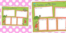 Australia - The Tortoise and the Hare Book Review Writing Frame