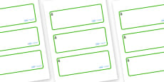Spruce Themed Editable Drawer-Peg-Name Labels (Blank)