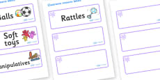 Lilac Themed Editable Additional Resource Labels