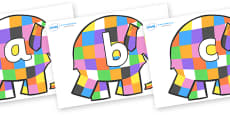 Phoneme Set on Patchwork Elephant to Support Teaching on Elmer