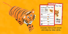Cardboard Tube Tiger Craft Instructions