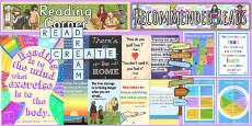 Reading Corner Area Display Pack KS2