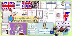Queen Elizabeth's Birthday Resource Pack