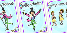 Role Play Poster to Support Teaching on Willy Wonka's Chocolate Factory