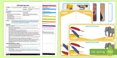 EYFS Light as a Feather Adult Input Plan and Resource Pack to Support Teaching on The Crunching Munching Caterpillar