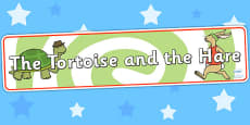 The Tortoise and The Hare Display Banner