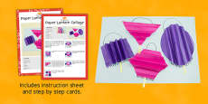Paper Lantern Collage Craft Instructions