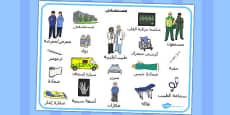 Hospital Word Mat Arabic