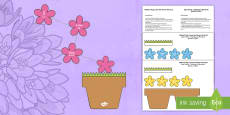 * NEW * Mother's Day Flowers in Pot Card Craft English/Romanian