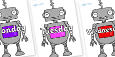 Days of the Week on Robots