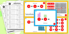 Year 2 Adding 2 Digit Numbers and Ones Crossing 10 Lesson Teaching Pack