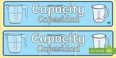 Capacity Display Banner English/Spanish