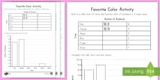 Favorite Color Tally and Bar Chart Activity Sheets