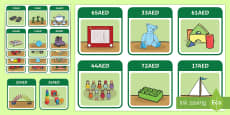 UAE Year 3 Money Toy Shop Labels AED