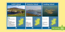 Islands of Ireland Display Posters