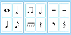 Blank Musical Note Cards