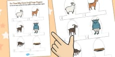 The Three Billy Goats Gruff Finger Puppets
