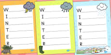 Australia - Winter Acrostic Poem Temperate