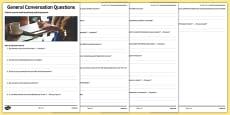 General Conversation Question List Education Post