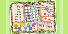 Jungle Themed Maths Mat