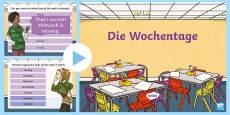 Days of the Week PowerPoint German