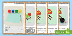 Handprint Craft Instructions to Support Teaching on The Very Hungry Caterpillar Arabic/English