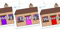 Days of the Week on Houses