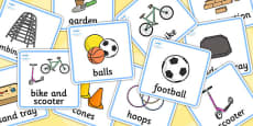Outdoor Play Choosing Cards