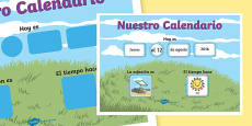 Daily Weather Calendar Weather Chart Long Date Format Spanish
