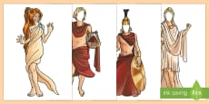 * NEW * Ancient Greek Gods Editable Faces Display Cut-Outs