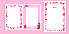Editable Valentine's Day Card Insert Template
