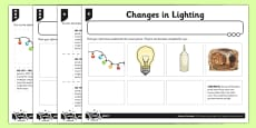 Changes in Lighting Activity Sheet